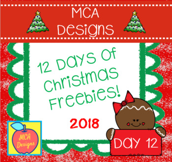 12 Days of Christmas Freebies - Day 12