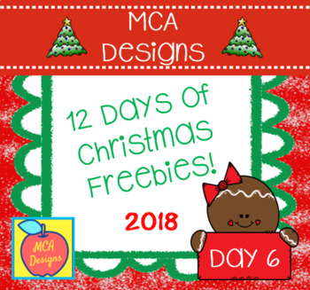 12 Days of Christmas Freebies - Day 6