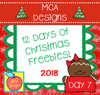12 Days of Christmas Freebies - Day 7
