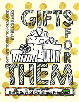 12 Days Of Christmas List.12 Days Of Christmas Gifts For Them Gift Lists By Edunista