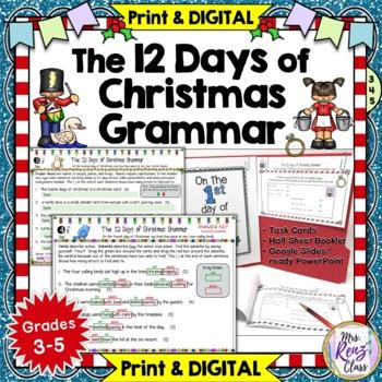 Christmas Grammar  12 Days of Christmas Literacy Center Fun