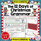 Christmas Grammar  12 Days of Christmas Literacy Center Fu