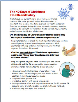 12 Days of Christmas Health-Staying Healthy and Safe During the Holidays