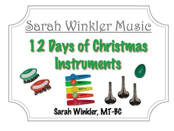 12 Days of Christmas Instruments Song Visuals