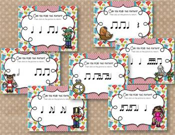 12 Days of Christmas Interactive Rhythm Practice BUNDLE - 7 GAMES!