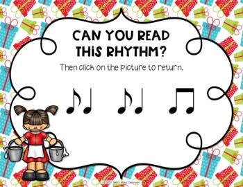 12 Days of Christmas Interactive Rhythm Practice Game - Syncopa