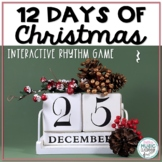 12 Days of Christmas Interactive Rhythm Practice Game - Ta Rest