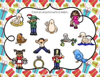 12 Days of Christmas Interactive Rhythm Practice Game - Ta Ti-ti
