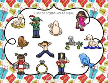 12 Days of Christmas Interactive Rhythm Practice Game - Ti-tika