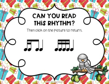 12 Days of Christmas Interactive Rhythm Practice Game - Tika-ti