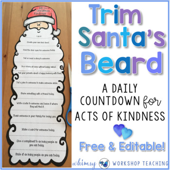 12 Days Of Christmas.12 Days Of Christmas Kindness Editable