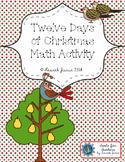 12 Days of Christmas Math Activity