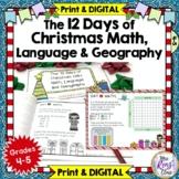 Christmas Math,  Christmas Language and Christmas Geography Daily Activities