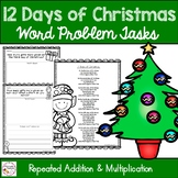 12 Days of Christmas Math Multiplication Problems