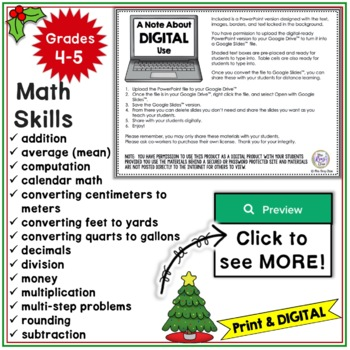 Christmas Math - Christmas Math Problem Solving Disguised as FUN!