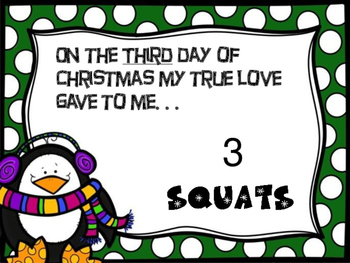 12 Days of Christmas-Movement Cards