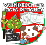 Christmas Multiplication- 12 Days of Multiplication  Fact Practice