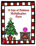 12 Days of Christmas Multiplication Facts Tracking Sheet & Quizzes