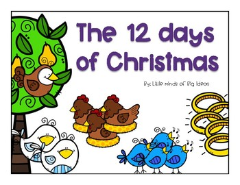 12 Days of Christmas Number Clip Cards