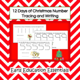 12 Days of Christmas Number Tracing and Writing