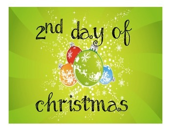12 Days of Christmas- Personalized- Primary Holidays