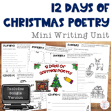 Christmas Writing: 12 Days of Poetry Booklet