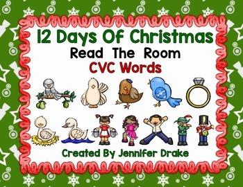 12 Days of Christmas Read the Room CVC Words