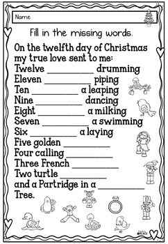 12 Days of Christmas - Reading Pack