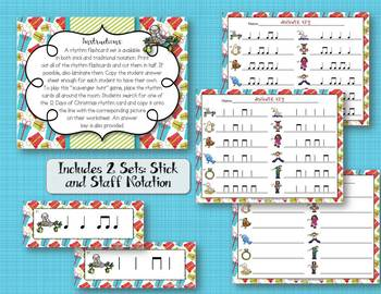 12 Days of Christmas - Rhythm Write the Room, BUNDLE 7 Games!