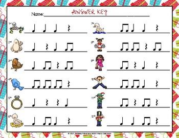 12 Days of Christmas - Rhythm Write the Room, Ta Rest