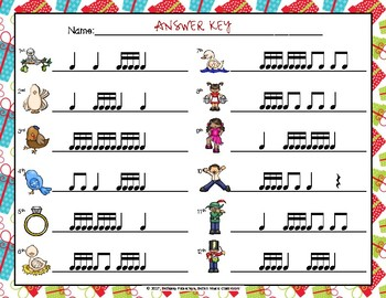 12 Days of Christmas - Rhythm Write the Room, Tika-tika