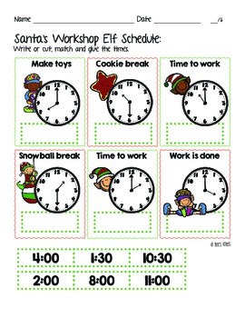 12 Days of Christmas: Santa's workshop elf schedule - What time is it?