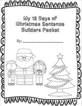 12 Days of Christmas Sentence Builders