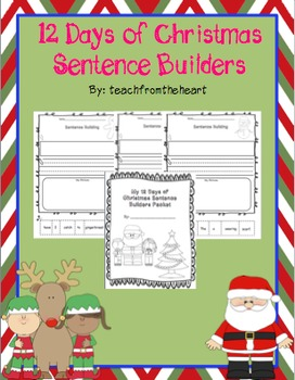 12 Days of Christmas Sentence Builders