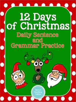 12 Days of Christmas Sentence and Grammar Practice