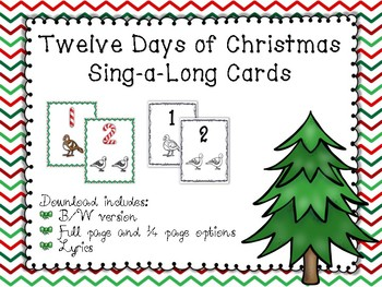 12 Days of Christmas Sing-a-Long Cards