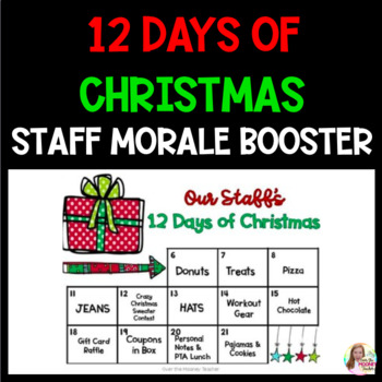 12 days of christmas staff morale booster