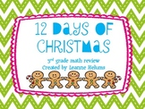 12 Days of Christmas Task Cards