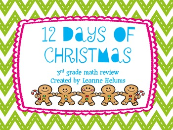 12 Days of Christmas Task Cards