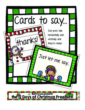 12 Days of Christmas: Thank You Cards