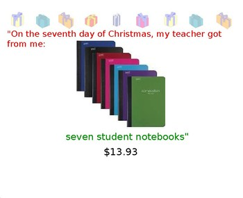 12 Days of Christmas Unit Rate Math Activity (PPT version)