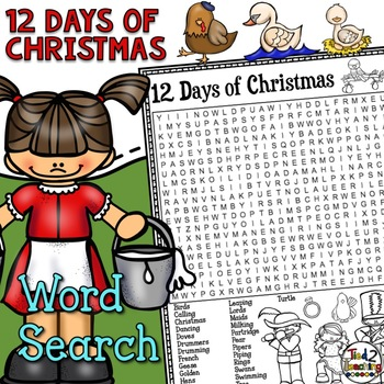 12 Days of Christmas Word Search Activity