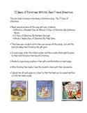 12 Days of Christmas Writing Activity