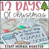 12 Days of Christmas for Staff - Editable Staff Morale Booster