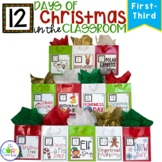 12 Days of Christmas Countdown Activities in the Classroom Primary Grades 1-3