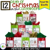 12 Days of Christmas Countdown Activities in the Classroom Grades 4-6