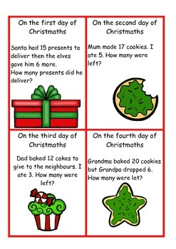 12 Days of Christmaths Addition and Subtraction