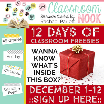 12 Days of Classroom FREEBIES {December 1-12}