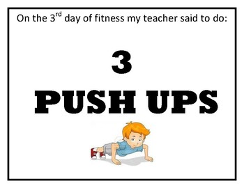 12 Days of Fitness Class Activity