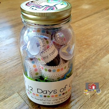 12 Days of Gratitude Jar
